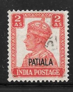India Patiala 108: 2a George VI, used, VF