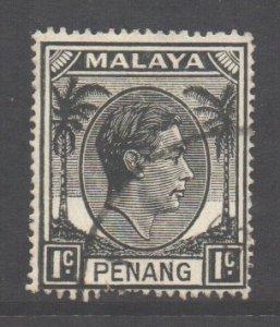 Malaya Penang Scott 3 - SG3, 1949 Sultan 1c used