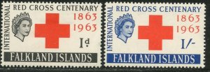FALKLAND IS. Sc#147-148 1963 Red Cross Issue OG Mint Hinged