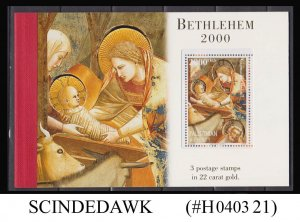 PALESTINE / PALESTINIAN AUTHORITY - 2000 BETHLEHEM - GOLD PRESTIGE BOOKLET MNH
