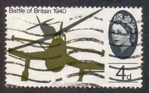 Great Britain 1965 used battle of Britain Spitfire attacking Junkers 4d  #