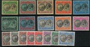 Dominica 1923 SC 65-82 Set MLH