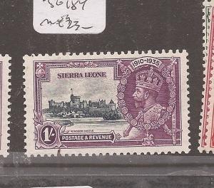 Sierra Leone Silver Jubilee SG 184 MOG (3dch)