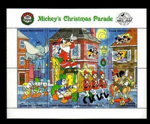 GRENADA GR - 1988 - DISNEY - MICKEY - MINNIE - CHRISTMAS PARADE - MINT NH SHEET!