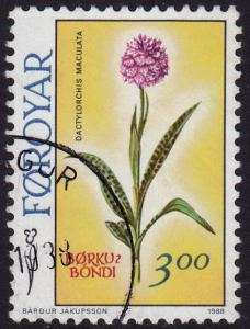 Faroe Islands - 1988 - Scott #170 - used - Flower