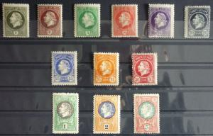 1921-MONTENEGRO-GAETA-FULL SET-12 VALUES WITHOUT OVERPRINT (MNH)-RARE! italy J7