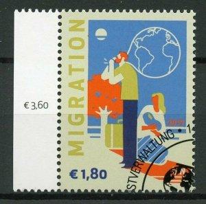 United Nations UN Vienna 2019 CTO Definitive Migration 1v Set Stamps