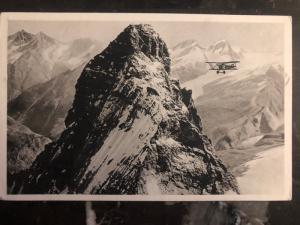 1927 Zurich Switzerland to Bellinzonna RPPC Postcard Cover # C7 Matterhorn Plane
