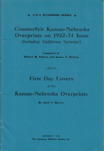 Counterfeit Kansas-Nebraska Overprints on 1922-34 Issue + California Varieties