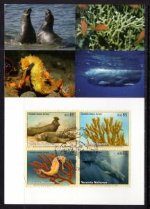 UN Vienna 420a Marine Life Maxi Card UN Postal Admin U/A FDC