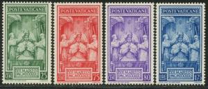 VATICAN Sc#68-71 1939 Pius XII Coronation Complete Set OG Mint NH
