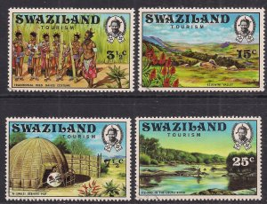 Swaziland 1972 QE2 Tourism set 4 stamps to 25cts  VFU ( E105 )