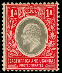 EAST AFRICA and UGANDA SG18a, 1a grey & red, M MINT. Cat £18. WMK MULT CA