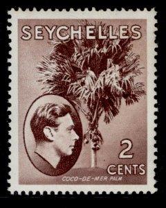 SEYCHELLES GVI SG135, 2c purple-brown, M MINT. CHALKY