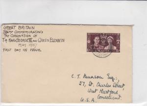 british 1937 first day of issue stamps cover ref 19427