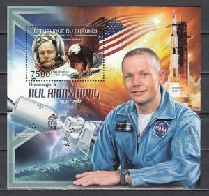 Burundi, 2012 issue. Astronaut Neil Armstrong s/sheet.