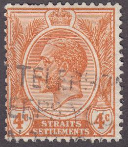 Straights Settlement 185 USED 1929 King George V