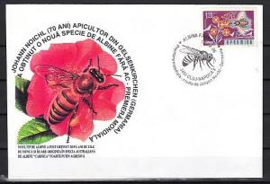 Romania, 1996 issue. 18/DEC/96. Honey Bee cancel on Cachet cover.