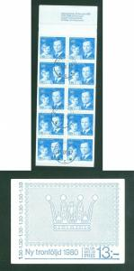 Sweden. Booklet 1980. Succession To The Throne Sc#. 1118. Engr: Slania. Cancel