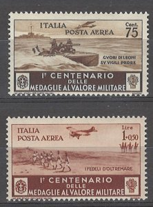 COLLECTION LOT # 4977 ITALY 2 AIR MAIL MNH STAMPS 1934 CV+$11