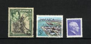 Jamaica #119, 347, 658  mint & used  PD