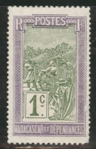Madagascar Malagasy Scott 79 MH*  from 1908-28 set
