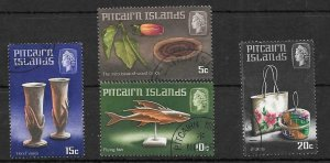 PITCAIRN ISLANDS SG88/91 1968 HANDICRAFTS FINE USED