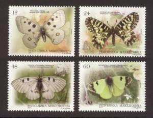 Macedonia Sc# 582-5 MNH Butterflies