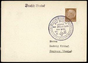 3rd Reich Germany Sudetenland 1938 Deutsch Brodek Annexation Provisional  G73186