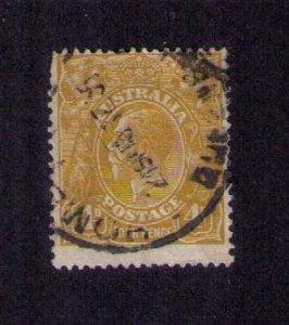 Australia (1929) Sc 73a  kgV head  4p ol.biss Very Fine Perf.14 x12.5