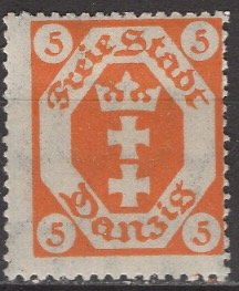 Danzig; 1920: Sc. # 63: */MH Single Stamp