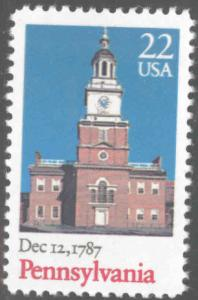 USA Scott 2337 MNH Pennsylvania independence hall stamp