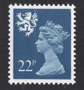 Great Britain Scotland  #SMH41 MNH  Q E II  22p blue type I  Machin