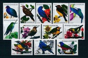 [102992] Central African Republic 2001 Birds vögel oiseaux 12 values MNH