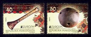 Macedonia Sc# 659-60 MNH Europa 2015 / Musical Instruments