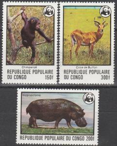 Congo #456-8 MNH  CV $29.00 (S3013)
