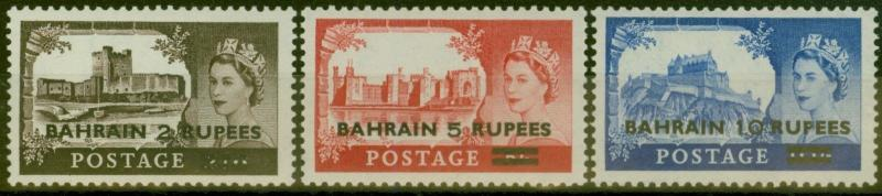 Bahrain 1955 set of 3 SG94-96 Fine & Fresh Lightly Mtd Mint