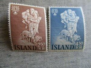 Iceland, Scott#325-326, MNH