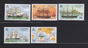 Guernsey 367-371 Set MNH Sailing Ships