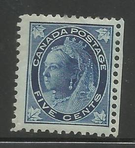 CANADA, 70, MINT HINGED HINGED REMNANT, QUEEN VICTORIA