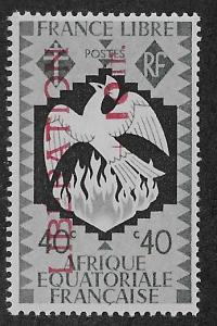 FRENCH EQUATORIAL AFRICA SC# B18  FVF/MOG  1944