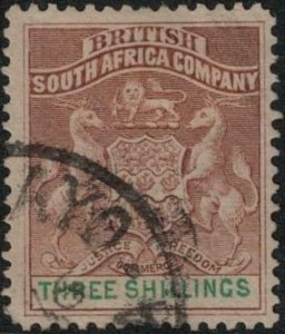 Rhodesia 1890-1894 SC 12 Used