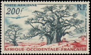 French West Africa #C18-C20, Complete Set(3), 1954, Hinged
