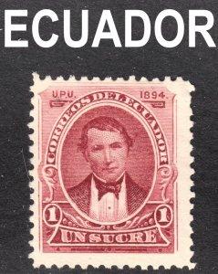 Ecuador Scott 45 F+  mint no gum 1st issue.