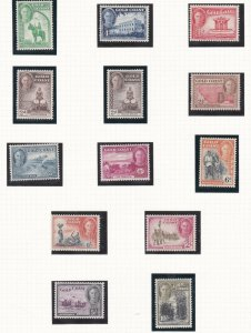 GOLD COAST  1948 - 52  S G 135 - 146  SET OF 12 MH