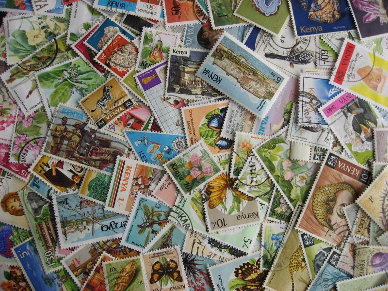 Collection breakdown! 115 different KENYA stamps, some mixed condition