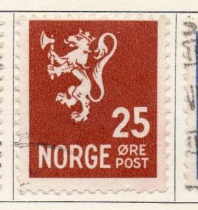 Norway 1926-28 Early Issue Fine Used 25ore. 055037