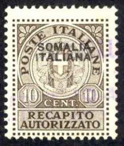 Somalia Sc# EY1 Mint (no gum) 1939 10c Authorized Delivery