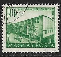 Hungary 1951 Scott # 962 used. Free Shipping for All Additional Items.