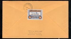 Canada #CL52 Very Fine Used On Cover To Regina With #208